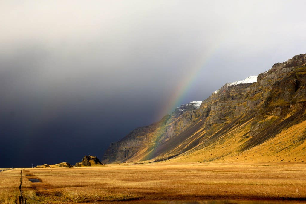 Iceland Rainbow photo Dave Casey