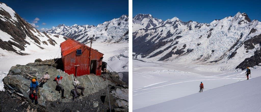wide tasman glacier dyp