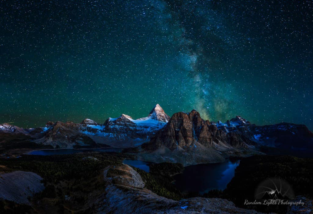 This shot was taken up from the Nub near Mt Assiniboine in the Canadian Rockies. I stopped by Paddy Pallin before the trip to stock up on all the gear I needed for this trip - including thermal underwear, fleece jumpers, down jacket, beanie, socks, rain jacket, camel pack and an inflatable pillow... we camped out there for two nights and I have to say this is the most astonishing place I have ever seen in my life. I wish I had more time out there!! Hannes Nitzsche