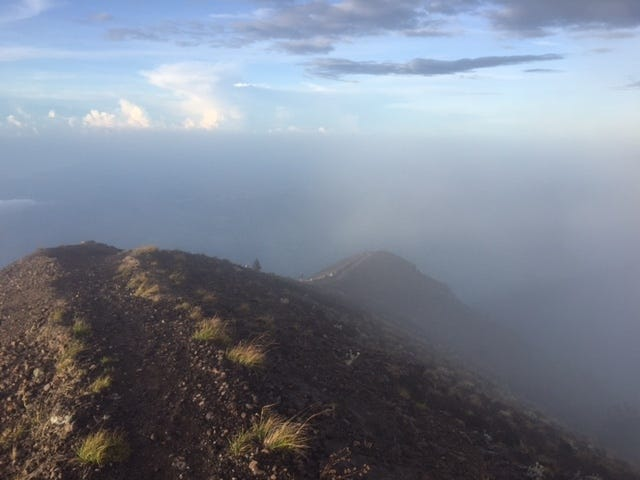 Descending into the Mist Mt Agung