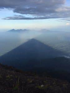 Shadow of Mt Agung from Summit