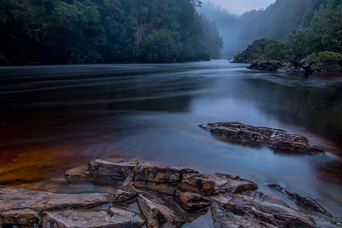 Paddy Pallin Wild Rivers Photo Contest Winner - Wild Rivers Category, Serene Dark Scene of the Franklin River