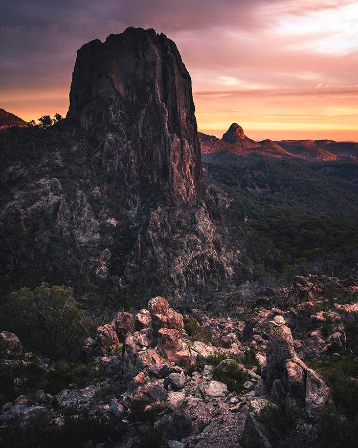 Sunset in the Warrumbungles