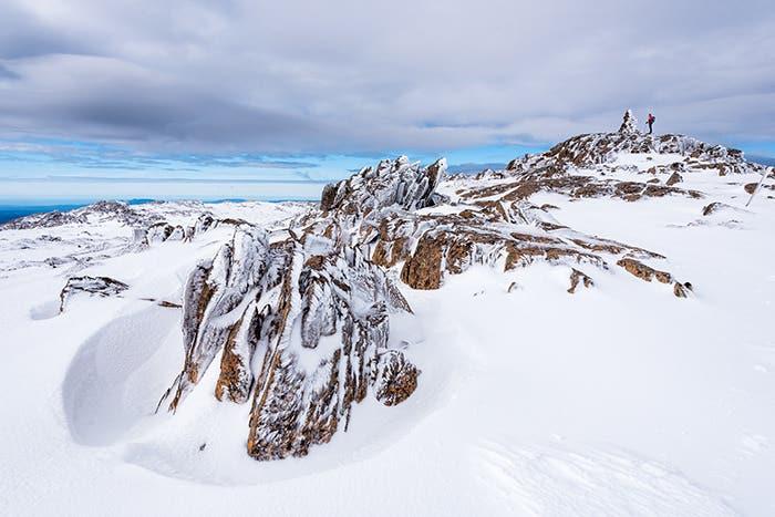Snowy landscape at Ben Lomond.