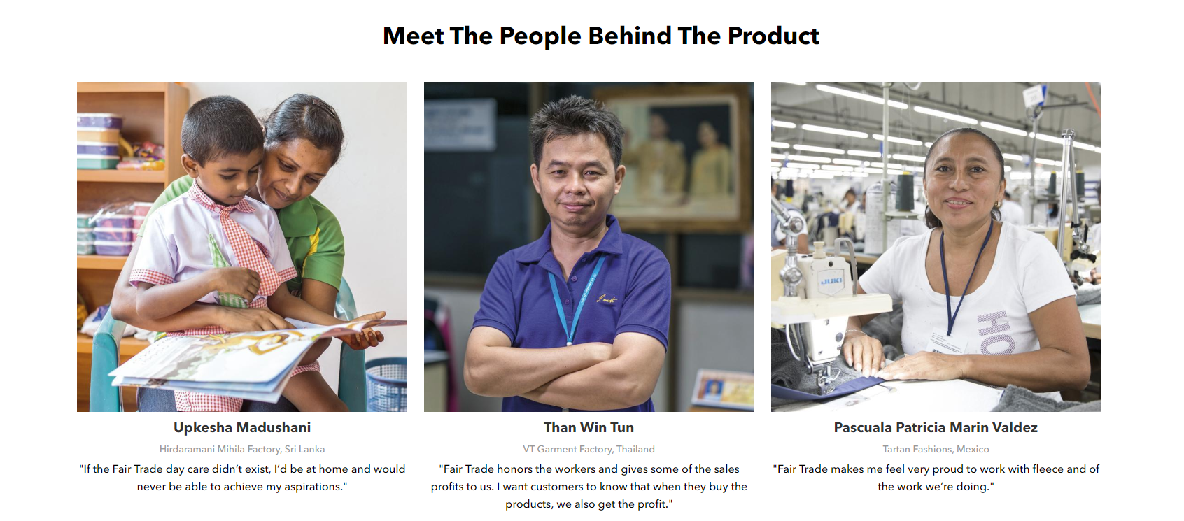 Patagonia Fair Trade - People Behind the Product