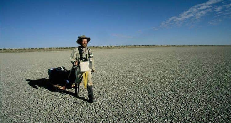 An iconic Aussie Adventurer, Jon Muir on his cross Australia Traverse