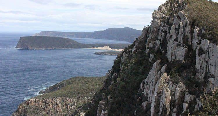 View of Cape Pillar from Mount Fortescue.