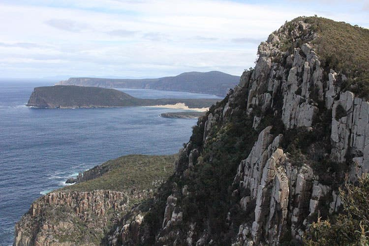 Dolerite cliffs as seen on the Three Capes Track