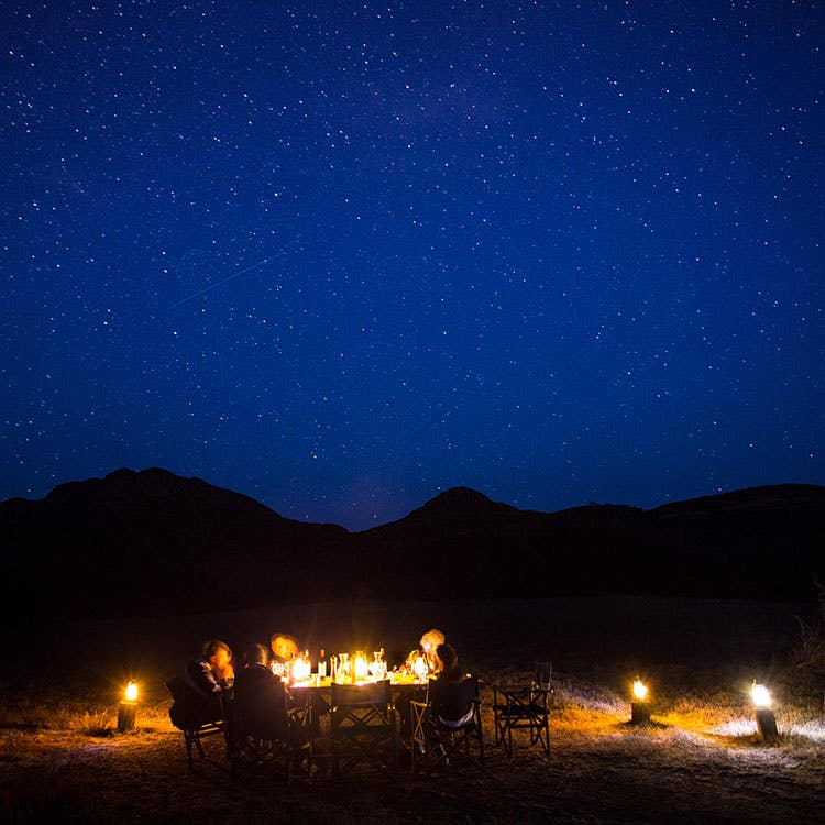 Dine in Arkaba's wilderness after a day of exploring on foot