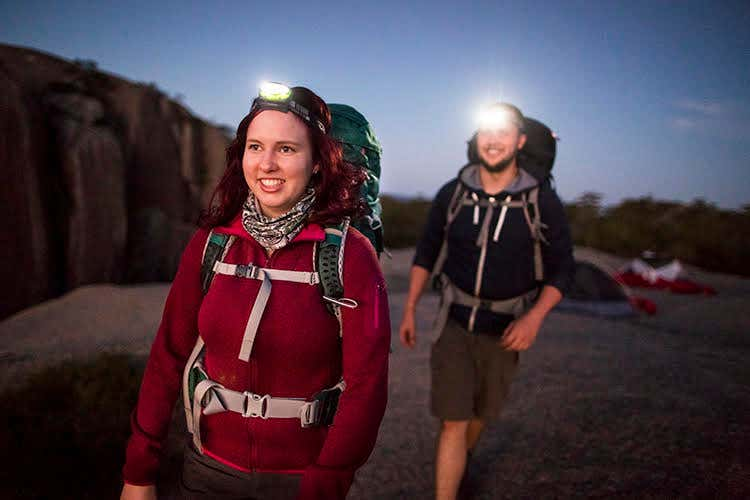 Head torch to light up your hiking and camping adventures