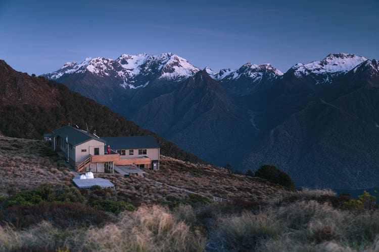 Luxmore Hut along the Kepler Track