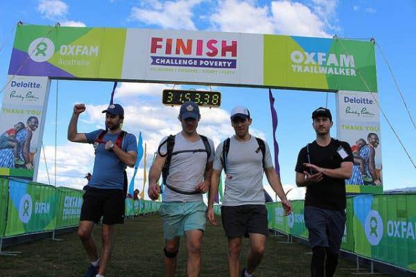 Finish line of endurance adventure