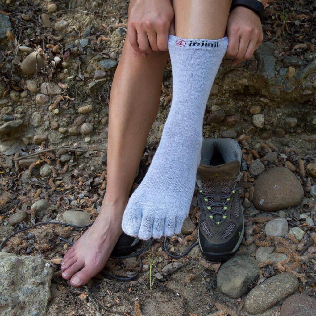 Injinji toe socks for blister prevention