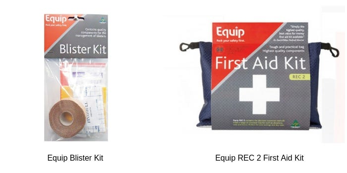 Equip REC 2 First Aid Kit and Equip blister kit