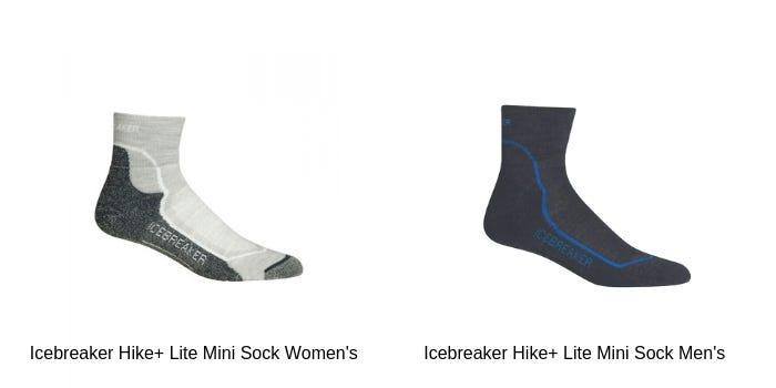 Icebreaker Hike+ Lite Mini Sock Women's and Icebreaker Hike+ Lite Mini Sock Men's