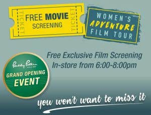 Paddy Pallin Free movie Screening of a preview of the Women's Adventure Film Tour