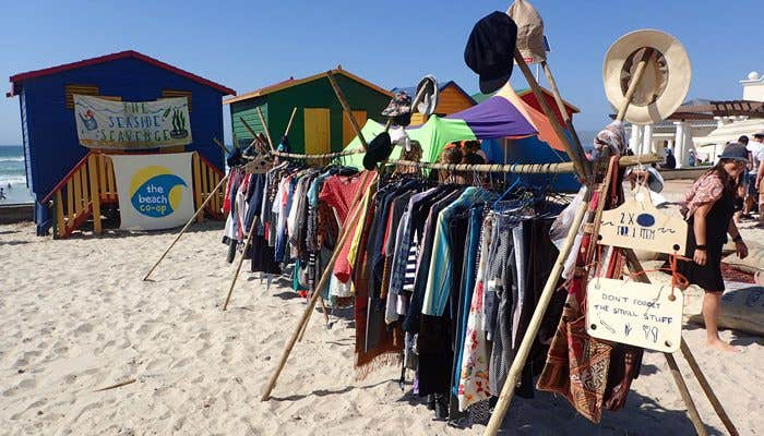 Seaside Scavenge Shop full of preloved pieces ready to be bought with tokens earned from collecting rubbish