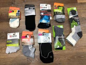 Different types of outdoor and hiking socks