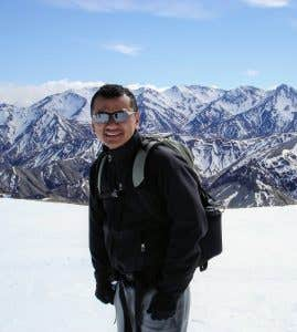 Tej our Paddy Pallin Melbourne store manager in the mountains of Nepal