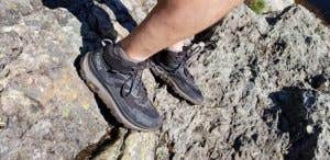 Hoka Boots on a rough Canadian trail
