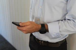 Suunto 5 being worn with business attire