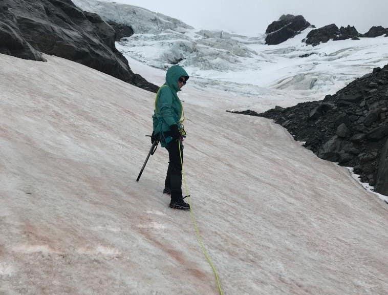 Paddy Pallin team member climbing