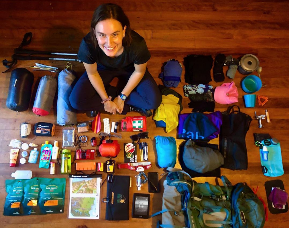 Paddy pallin Staff member Sophie ready for a hiking adventure