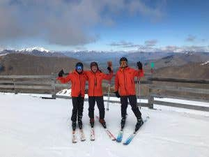 Skiers in NZ wearing futurelight gear from The North Face