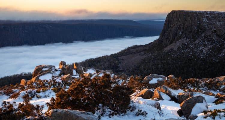 Tasmanian wilderness in winter