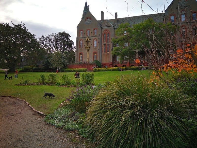 Abbotsford Convent, Inter-Yarra Urban Hike, Melbourne. Photograph - Walking Maps.