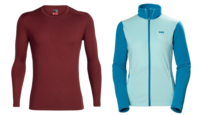 Insulation Layers - Icebreaker 260 Tech LS Shirt and Helly Hansen Daybreaker Fleece Jacket