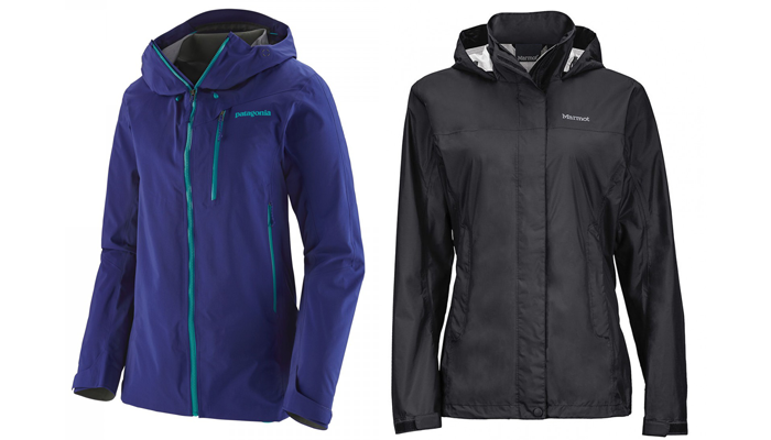 Rain protection - Patagonia Pluma Gore-tex Jacket and Marmot PreCip Waterproof Jacket