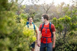 Two day hiker on the trail in Noosa QLD