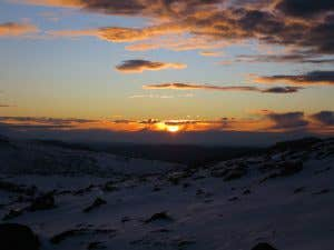 Sunrise over the Snowy Mountains