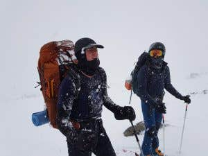Backcountry skiers in the NSW Snowy Mountains