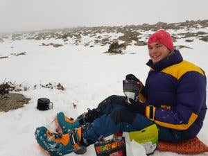 Jetboil minimo in alpine conditions in the Snowy Mountains