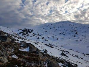 Rocky and snowy conditions in the Australian Alps