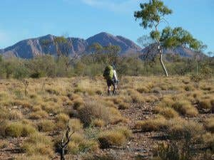 My walking poles and I on the Larapinta. Could not do without them