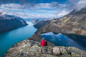 Mesmerised on the Besseggen ridge in Jotunheimen, Norway.