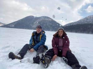 Visiting lake Shikaribetsu i Feb 2020. Fitted out in Rab pants and down jacket,
