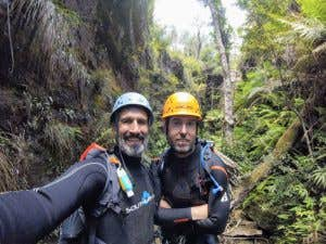 Best adventure day of my life - James introducing me to canyoning at Whungee Wheengee! Bending the rules a bit :)