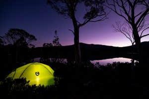Nemo tent set up under the stars