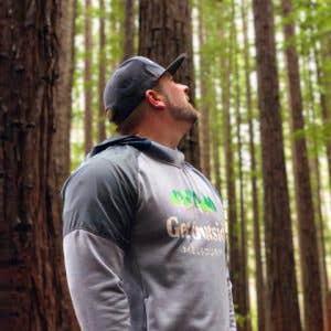 Get Outside Melbourne founder Kane in forest