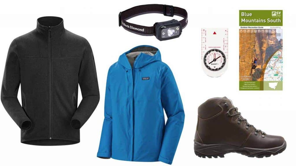 Waterproofs, clothing, hiking maps and compasses that you will need for your first overnight hike.