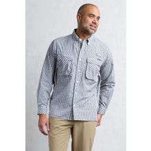 ExOfficio Air Strip Micro Plaid LS Shirt Men's - Pebbles