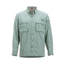 ExOfficio Air Strip Check Plaid LS Shirt Men's - CementExOfficio Air Strip Check Gingham LS Shirt Men's - Bonsai