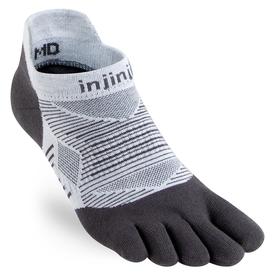 Injinji Run Lightweight Coolmax No Show Sock - Grey