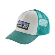 Patagonia P6 Logo Lopro Trucker Hat - White w/Beryl Green