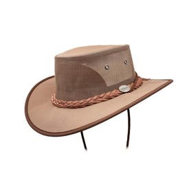 Barmah Canvas Drover Cool Hat - Brown