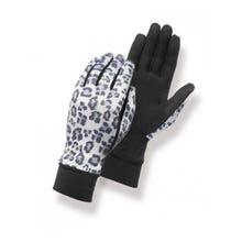 Matt Inner Touch Screen Gloves - Leophard Grey